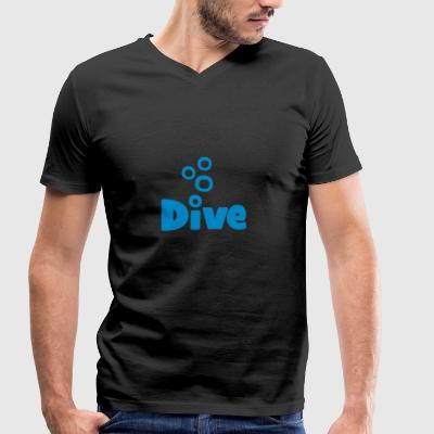 6061912 121510710 Diver3 - Men's Organic V-Neck T-Shirt by Stanley & Stella