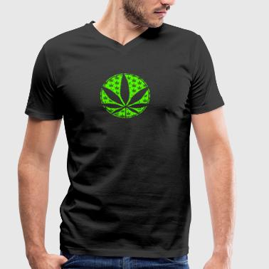 Hemp Leaf 010 AllroundDesigns - Men's Organic V-Neck T-Shirt by Stanley & Stella