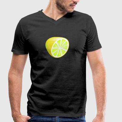lemon - Men's Organic V-Neck T-Shirt by Stanley & Stella