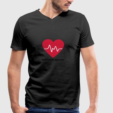 Heart Northern Ireland - Men's Organic V-Neck T-Shirt by Stanley & Stella