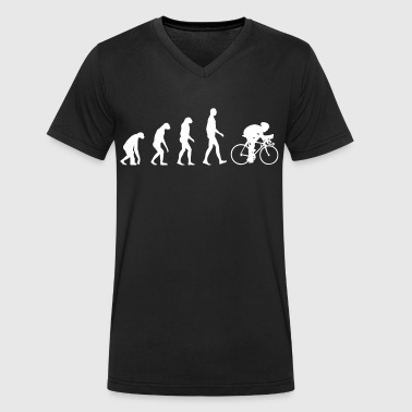 Evolution Bike - Men's Organic V-Neck T-Shirt by Stanley & Stella
