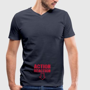 action reaction fleche pointe bas sexe - T-shirt bio col V Stanley & Stella Homme