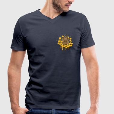 A beehive honeycomb - Men's Organic V-Neck T-Shirt by Stanley & Stella