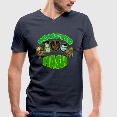 Monster Mash - Men's Organic V-Neck T-Shirt by Stanley & Stella