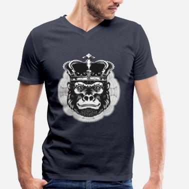 Ape Gorilla GORILLA king of the apes - Men's Organic V-Neck T-Shirt by Stanley & Stella