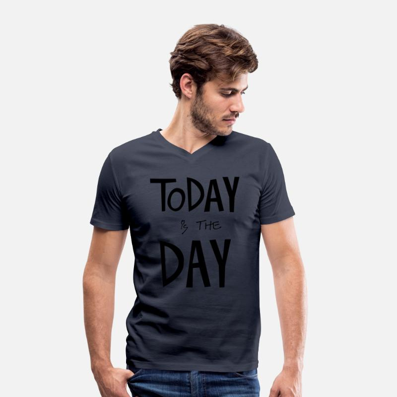 Luck T-Shirts - TODAY is the DAY - Men's V-Neck T-Shirt navy