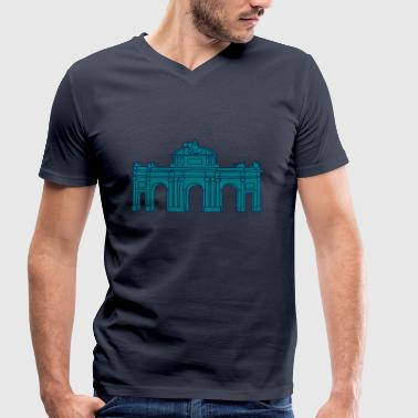 Puerta de Alcalá Madrid 2 - Men's Organic V-Neck T-Shirt by Stanley & Stella