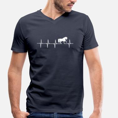 Rythme Cardiaque Chevaux - rythme cardiaque - T-shirt bio col V Stanley & Stella Homme