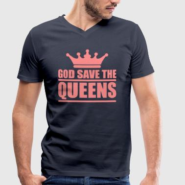 God save the queens (1 color) - T-shirt bio col V Stanley & Stella Homme