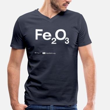 IEC Type I - Fe2O3 - Men's Organic V-Neck T-Shirt by Stanley & Stella
