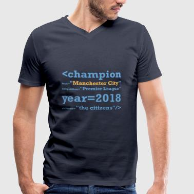 Manchester City champion of England 2018 - Men's Organic V-Neck T-Shirt by Stanley & Stella