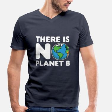 Planet Earth Environment earth planet - Men's Organic V-Neck T-Shirt by Stanley & Stella