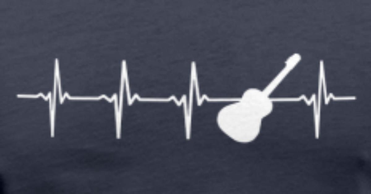 Guitar Heart Beat T Shirt Spreadshirt