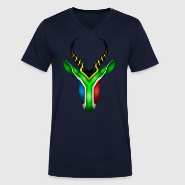 South African Springbok 2 - Men's Organic V-Neck T-Shirt by Stanley & Stella