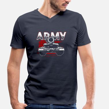 German Military Soldier! Army! Military! Patriot! - Men's Organic V-Neck T-Shirt by Stanley & Stella