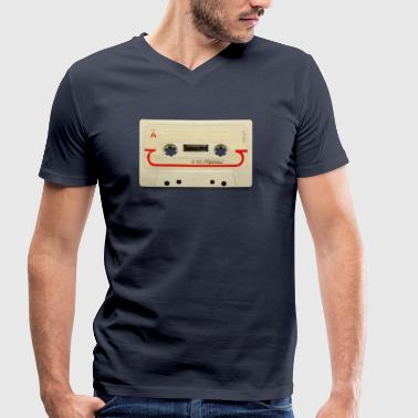 vintage tape: compact cassette - T-shirt bio col V Stanley & Stella Homme