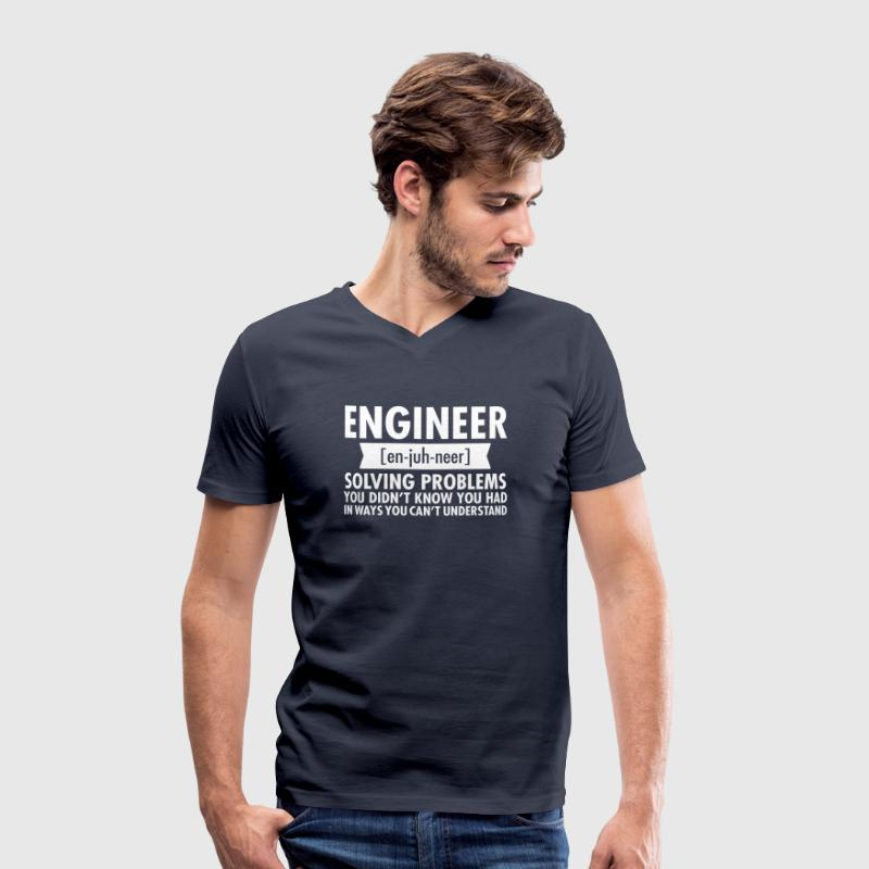 Engineer - Solving Problems - Men's Organic V-Neck T-Shirt by Stanley & Stella