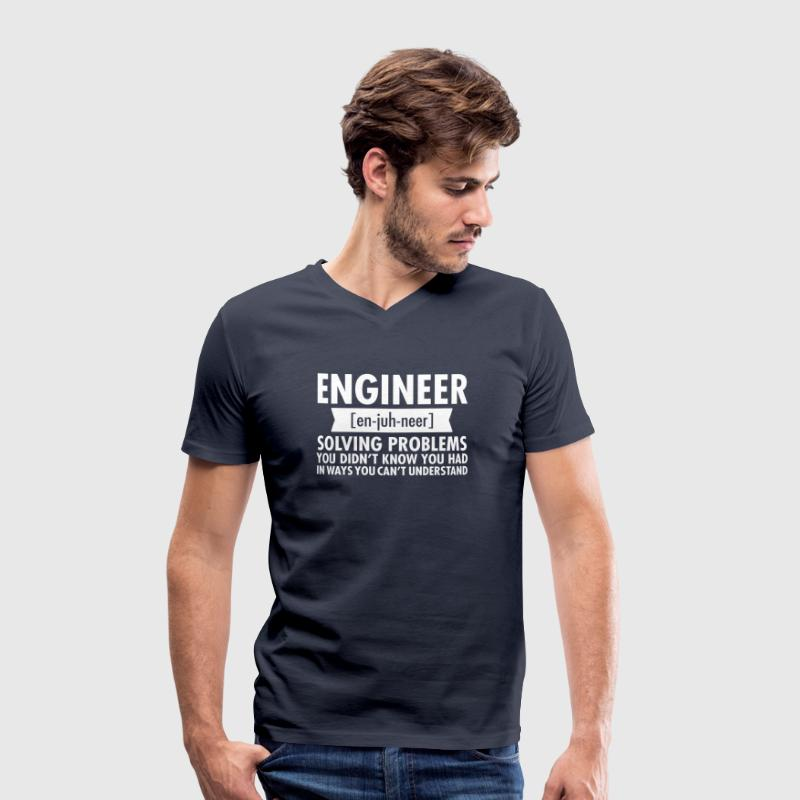 Engineer - Solving Problems - Mannen bio T-shirt met V-hals van Stanley & Stella