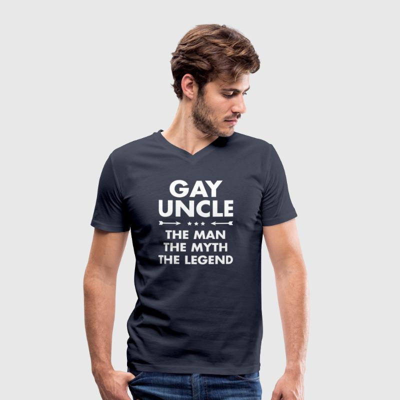 Gay Uncle - The Man, The Myth, The Legend - Men's Organic V-Neck T-Shirt by Stanley & Stella