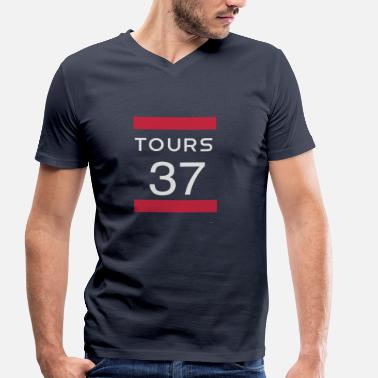 Tours Tours 37 Tours - Men's Organic V-Neck T-Shirt by Stanley & Stella