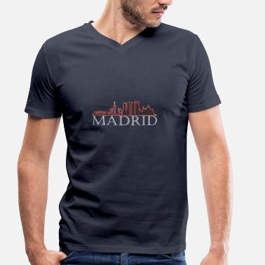 Madrid Madrid capital Spain gift - Men's Organic V-Neck T-Shirt by Stanley & Stella
