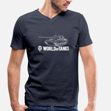World Of Tanks World of Tanks Jagdtiger Homme sweat-shirt - Camiseta ecológica hombre con cuello de pico de Stanley & Stella