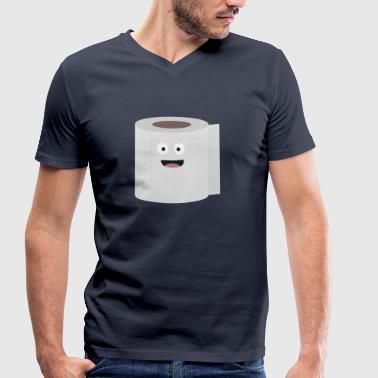 Toilet Paper Toilet paper with face - Men's Organic V-Neck T-Shirt by Stanley & Stella