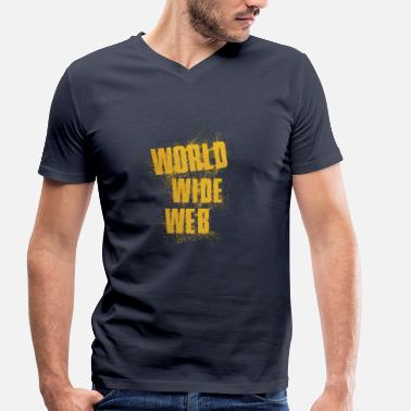 World Wide Web World Wide Web - T-shirt bio col V Stanley & Stella Homme