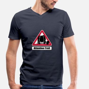 Attention Attention Troll - T-shirt bio col V Stanley & Stella Homme