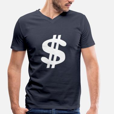 Dollar Sign Dollar sign Dollar Money - Men's Organic V-Neck T-Shirt by Stanley & Stella