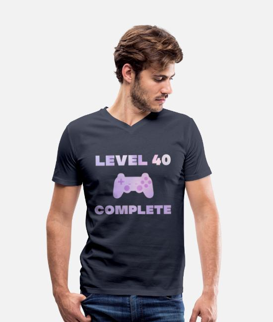 Play T-Shirts - 40th birthday gaming gamer gift games - Men's Organic V-Neck T-Shirt navy