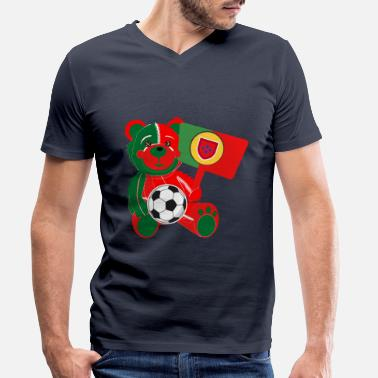 World Champion Teddy Football Portugal - Men's Organic V-Neck T-Shirt