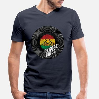 Dub reggae vibes dance - Men's Organic V-Neck T-Shirt