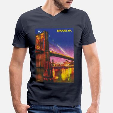 Brooklyn Bridge Brooklyn Bridge - Men's Organic V-Neck T-Shirt