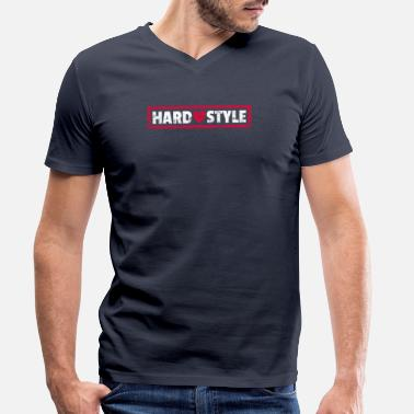 Hardstyle Lover Heart Rawstyle Heart - Men's Organic V-Neck T-Shirt