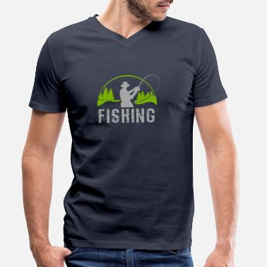 Sport Fishermen Anglers and fishermen - Men's Organic V-Neck T-Shirt