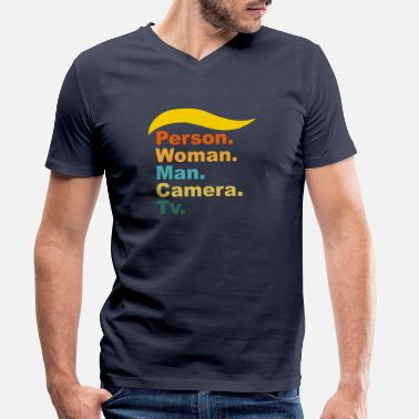 Camera Person Woman Man Camera TV - Men's Organic V-Neck T-Shirt