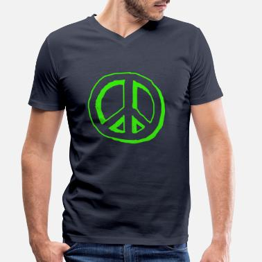 Nuklear peace sign - T-skjorte med V-hals for menn