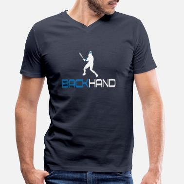Backhand Tennis Backhand - Men's Organic V-Neck T-Shirt