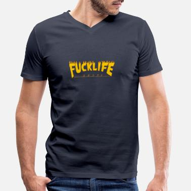 Bootleg Fuck life (and me) - Men's Organic V-Neck T-Shirt by Stanley & Stella