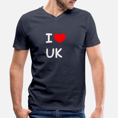 Gb Souvenir I love UK UK - Men's Organic V-Neck T-Shirt