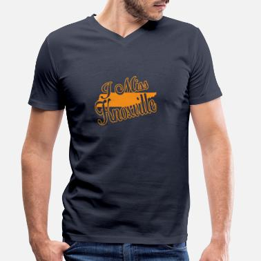 Knoxville Je mademoiselle knoxville - T-shirt bio col V Homme