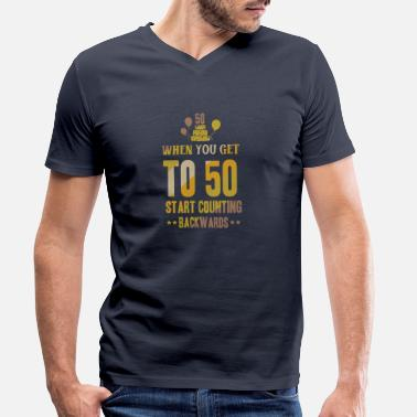 Fifty 50 fifty birthday shirt - Men's Organic V-Neck T-Shirt
