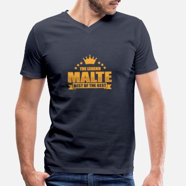 Malt Malte - Men's Organic V-Neck T-Shirt by Stanley & Stella