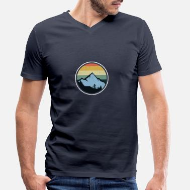 Bike Mountain bike mountains vintage - Men's Organic V-Neck T-Shirt