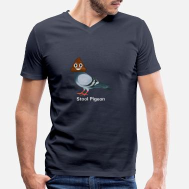 Stool Pigeon, ha cha cha cha - Men's Organic V-Neck T-Shirt
