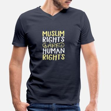 Human Rights Muslim Rights Are Human Rights - Men's Organic V-Neck T-Shirt