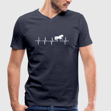 Chevaux - rythme cardiaque - T-shirt bio col V Stanley & Stella Homme