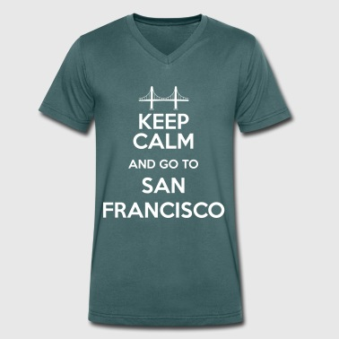 Keep Calm and go to San Francisco - T-shirt bio col V Stanley & Stella Homme