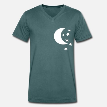 Half Moon half moon and stars - Men's Organic V-Neck T-Shirt by Stanley & Stella